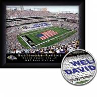 Baltimore Ravens 11 x 14 Personalized Framed Stadium Print