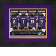 Baltimore Ravens Personalized Locker Room 13 x 16 Framed Photograph