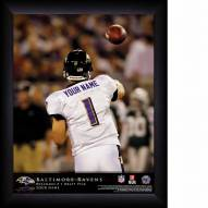 Baltimore Ravens Personalized 11 x 14 NFL Action QB Framed Print