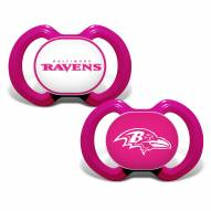 Baltimore Ravens Pink Baby Pacifier 2-Pack
