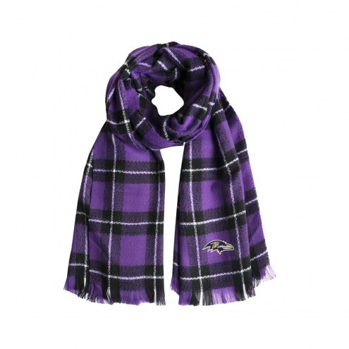 Baltimore Ravens Plaid Blanket Scarf