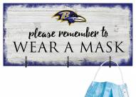 Baltimore Ravens Please Wear Your Mask Sign