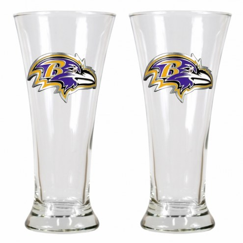 Baltimore Ravens Premiere Pilsner Glass Set