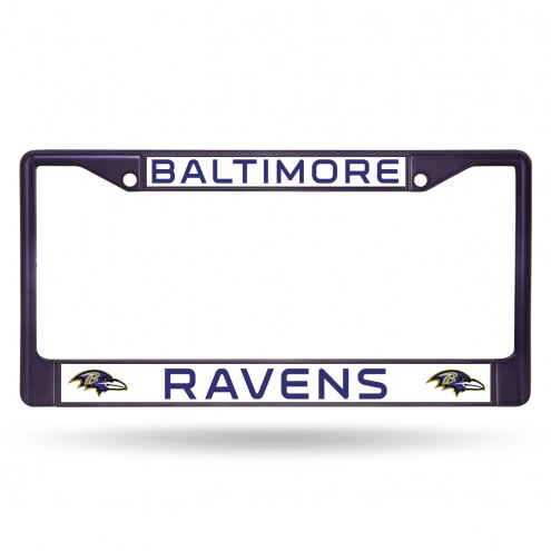 Baltimore Ravens Purple Colored Chrome License Plate Frame