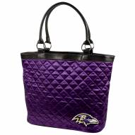 Baltimore Ravens Purple Quilted Tote Bag