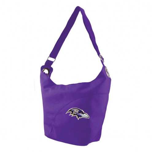 Baltimore Ravens Color Sheen Hobo Purse