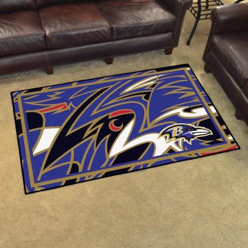 Baltimore Ravens Quicksnap 4' x 6' Area Rug