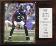 """Baltimore Ravens Ray Lewis 12"""" x 15"""" Career Stat Plaque"""