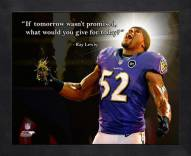 Baltimore Ravens Ray Lewis Football Framed Pro Quote