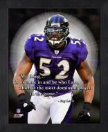 Baltimore Ravens Ray Lewis NFL Framed Pro Quote