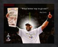 Baltimore Ravens Ray Lewis Framed Pro Quote