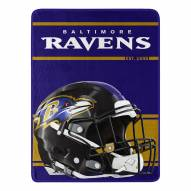Baltimore Ravens Run Raschel Blanket