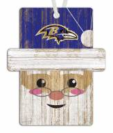 Baltimore Ravens Santa Ornament