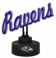 Baltimore Ravens Script Neon Desk Lamp