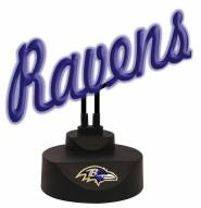 Baltimore Ravens Script Neon Desk Lamp
