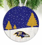 Baltimore Ravens Snow Scene Ornament