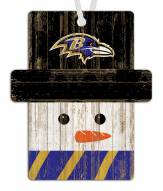 Baltimore Ravens Snowman Ornament