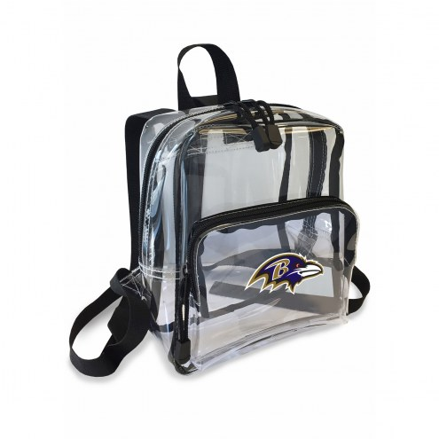 Baltimore Ravens Stadium Friendly Clear Mini Backpack