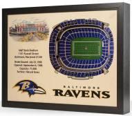 Baltimore Ravens 25-Layer StadiumViews 3D Wall Art