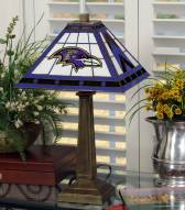 Baltimore Ravens Stained Glass Mission Table Lamp