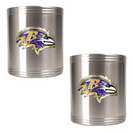 Baltimore Ravens Stainless Steel Can Coozie Set