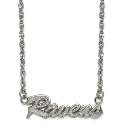 Baltimore Ravens Stainless Steel Script Necklace