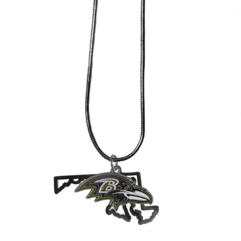 Baltimore Ravens State Charm Necklace