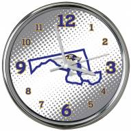 Baltimore Ravens State of Mind Chrome Clock