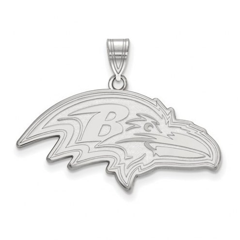 Baltimore Ravens Sterling Silver Extra Large Pendant