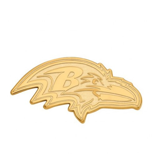 Baltimore Ravens Sterling Silver Gold Plated Extra Large Pendant
