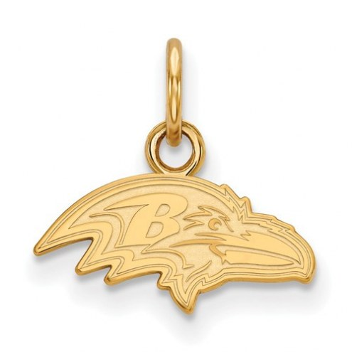 Baltimore Ravens Sterling Silver Gold Plated Extra Small Pendant