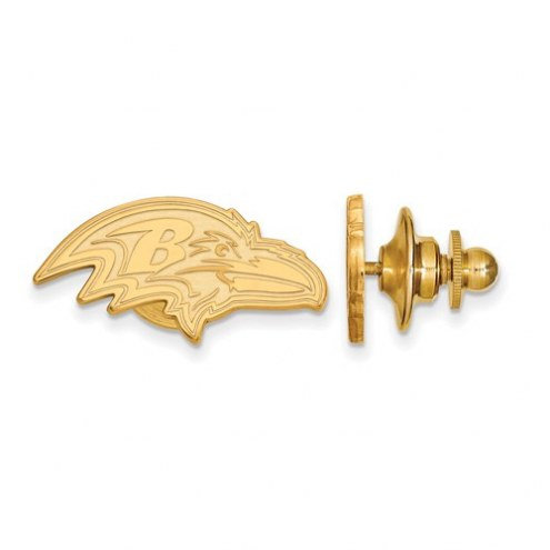 Baltimore Ravens Sterling Silver Gold Plated Lapel Pin