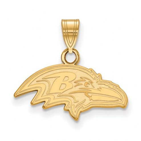 Baltimore Ravens Sterling Silver Gold Plated Small Pendant
