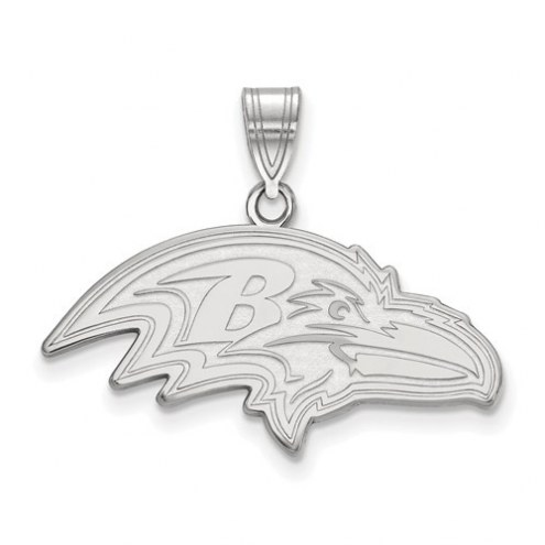 Baltimore Ravens Sterling Silver Large Pendant
