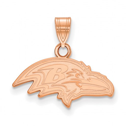 Baltimore Ravens Sterling Silver Rose Gold Plated Small Pendant