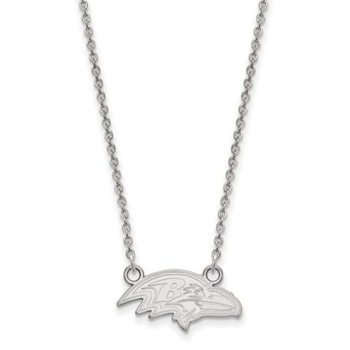 Baltimore Ravens Sterling Silver Small Pendant with Necklace