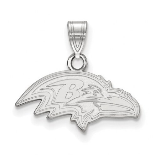 Baltimore Ravens Sterling Silver Small Pendant