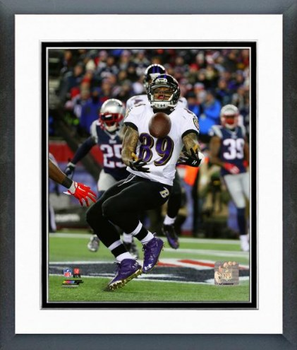 Baltimore Ravens Steve Smith Touchdown Catch Playoff Action Framed Photo