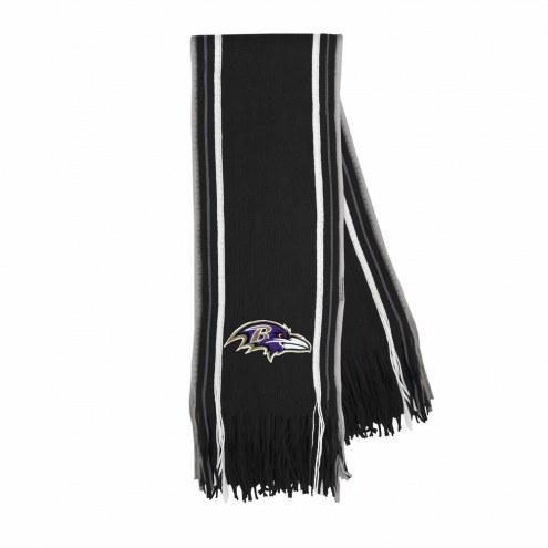 Baltimore Ravens Stripe Fringe Scarf