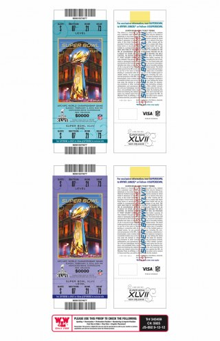 Baltimore Ravens Super Bowl Mini Mega Ticket