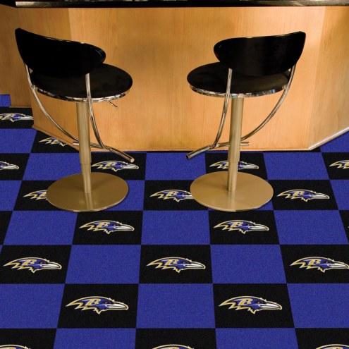 Baltimore Ravens Team Carpet Tiles