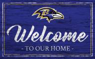Baltimore Ravens Team Color Welcome Sign