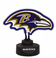 Baltimore Ravens Team Logo Neon Light