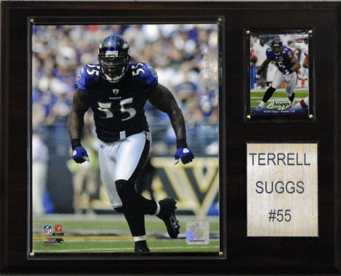 "Baltimore Ravens Terrell Suggs 12 x 15"" Player Plaque"