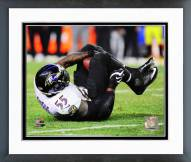 Baltimore Ravens Terrell Suggs Interception Playoff Action Framed Photo