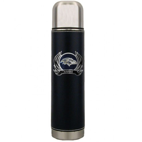 Baltimore Ravens Thermos with Flame Emblem