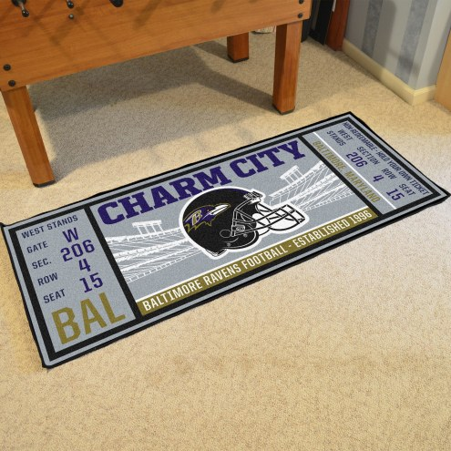 Baltimore Ravens Ticket Runner Rug