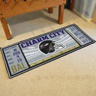 Baltimore Ravens Ticket Runner Rug