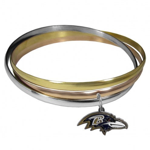 Baltimore Ravens Tri-color Bangle Bracelet