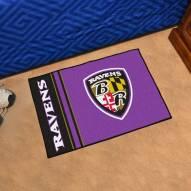 Baltimore Ravens Uniform Inspired Starter Rug